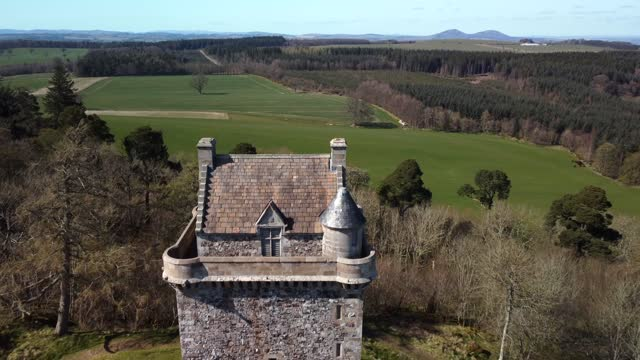 fatlips castle in roxburghshire, scotland, uk - tower stock videos & royalty-free footage