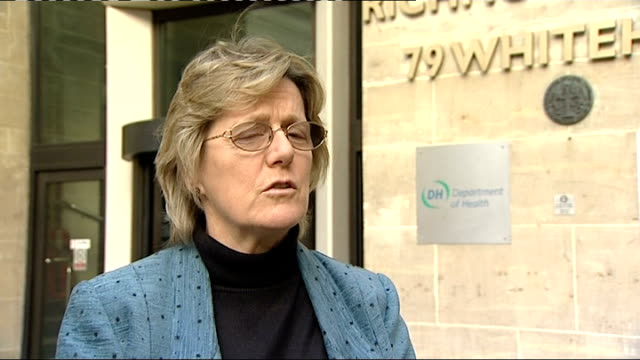 faulty implant figure higher than originally thought london ext professor dame sally davies interview sot - breast implant stock videos and b-roll footage