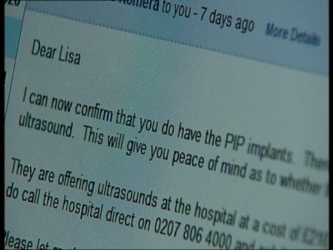 Reading woman launches action group Close shot of email sent to Lisa Fowler from NHS Lisa Fowler interview SOT Lisa Fowler leaving her house