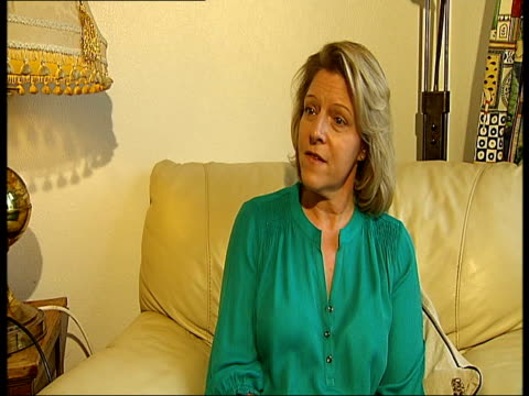 reading woman launches action group lisa fowler interview sot convinced was dying of cancer - brustimplantat stock-videos und b-roll-filmmaterial