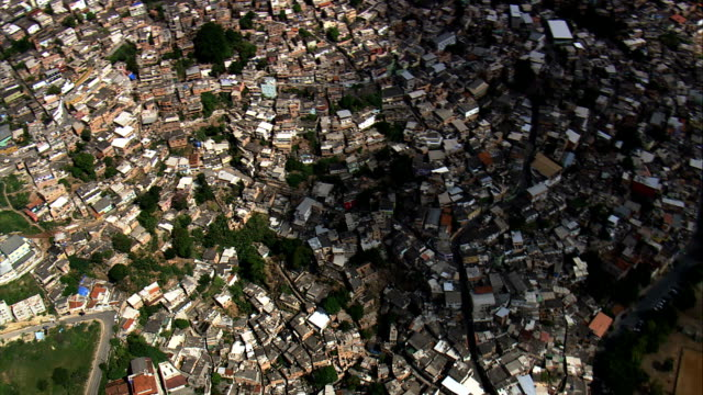 favela santa lucia  - aerial view - minas gerais, brazil - minas gerais stock videos and b-roll footage