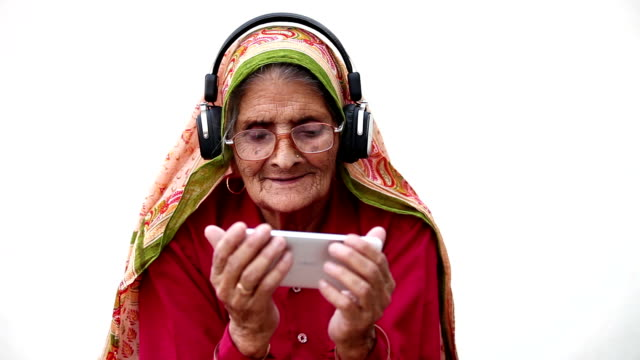 favourite music, old classics, new technology - senior women stock videos & royalty-free footage