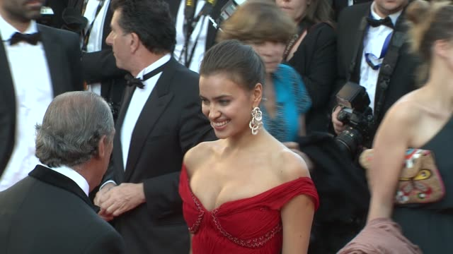 fawaz gruosi and irina shayk at killing them softly premiere: 65th cannes film festival on may 22, 2012 in cannes, france - roberto cavalli designer label stock videos & royalty-free footage