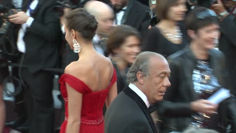stockvideo's en b-roll-footage met fawaz gruosi and irina shayk at killing them softly premiere: 65th cannes film festival on may 22, 2012 in cannes, france - internationaal filmfestival van cannes