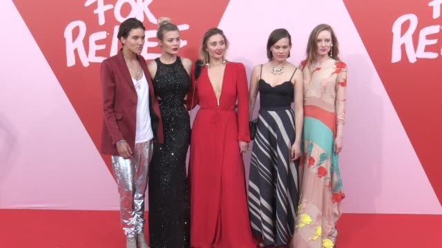 fawaz gruosi, trudie styler and more on the red carpet of fashion for relief photocall in cannes cannes, france on sunday may 21, 2017 - trudie styler stock videos & royalty-free footage