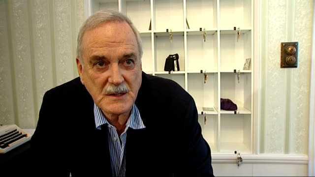 'fawlty towers' cast reunite for unveiling of documentaries john cleese interview sot - john cleese stock videos & royalty-free footage