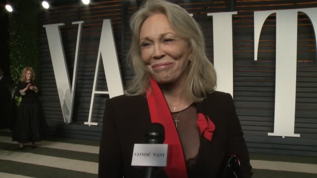 interview faye dunaway at the 2016 vanity fair oscar party hosted by graydon carter at wallis annenberg center for the performing arts on february 28... - faye dunaway stock videos and b-roll footage