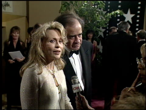 faye dunaway at the afi honors honoring clint eastwood press room at the beverly hilton in beverly hills california on march 1 1996 - faye dunaway stock videos and b-roll footage