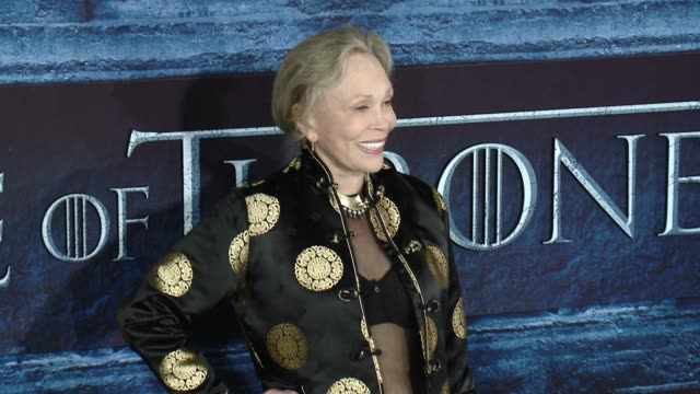 faye dunaway at the game of thrones season 6 los angeles premiere at tcl chinese theatre on april 10 2016 in hollywood california - faye dunaway stock videos and b-roll footage