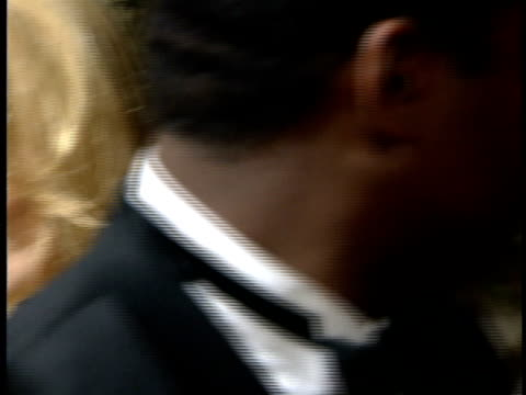 faye dunaway talking to reporter on the red carpet - faye dunaway stock videos and b-roll footage
