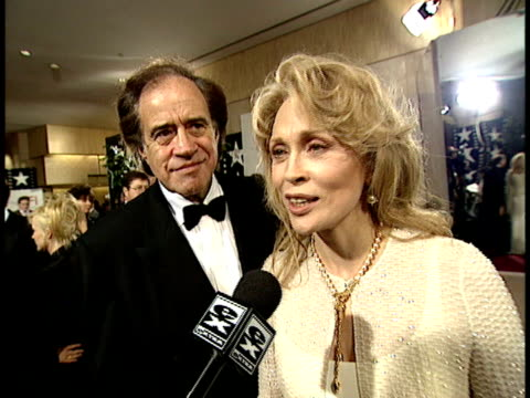 faye dunaway talks about clint eastwood - faye dunaway stock videos and b-roll footage