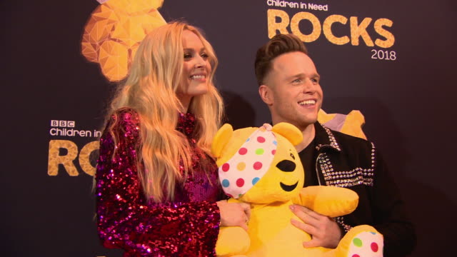 vidéos et rushes de fearne cotton and olly murs at bbc children in need rocks - charity concert on november 7, 2018 in london, england. - bbc children in need