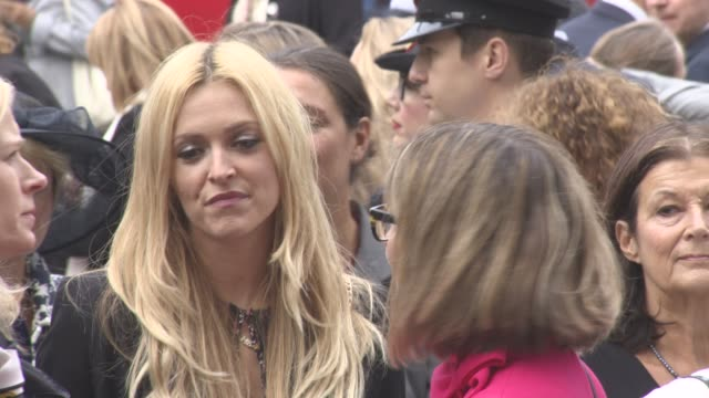fearne cotton at a service of thanksgiving for the life and work of sir terry wogan at westminster abbey on september 27, 2016 in london, england. - terry wogan stock-videos und b-roll-filmmaterial