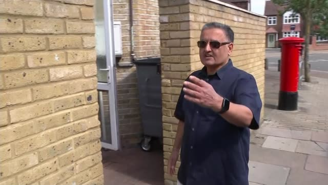 fears for tenants in arrears as evictions set to resume; england: ext traffic jam on overpass bj croakin interview as showing reporter makeshift... - tenant stock videos & royalty-free footage