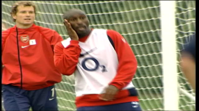 Fears over the future of Sol Campbell TX London Colney EXT Campbell training with Arsenal