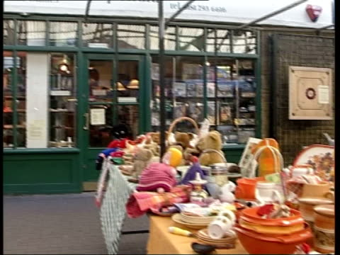 fears that greenwich market may be redeveloped ferrari at stall looking through magnifying glass sonia rollo interview sot antique stalls at... - antique stock videos & royalty-free footage