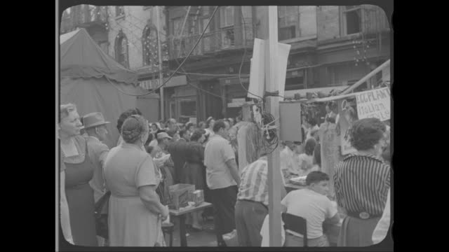 1958 - feast of san gennaro, little italy, new york, ny - around the fair n.y stock videos & royalty-free footage