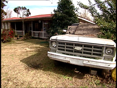 february 1 2004 ws truck in front of house in south carolina neighborhood / united states - south america stock videos & royalty-free footage