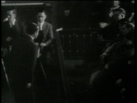 february 13, 1935 montage prosecutor speaking to jury / flemington, new jersey, united states - 1935 stock videos & royalty-free footage