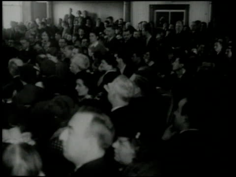 february 13 1935 montage spectators sitting and judge banging gavel in courthouse / flemington new jersey united states - gavel stock videos & royalty-free footage