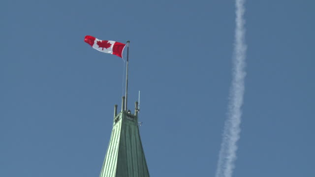 february 14 2009 montage canadian parliament centre block building and peace tower/ ottawa ontario canada - parliament hill stock videos & royalty-free footage