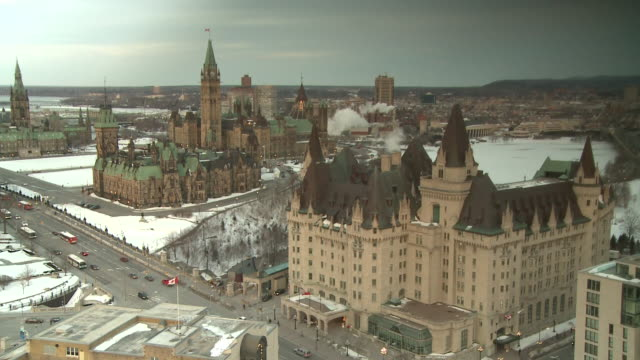 february 14, 2009 parliament hill / ottawa, ontario, canada - parliament hill stock videos & royalty-free footage
