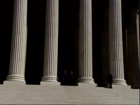 february 16 2006 zi justice roberts and justice alito on the steps of the us supreme court building / washington dc united states - us supreme court building stock videos & royalty-free footage