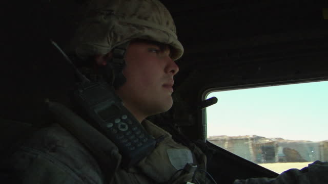february 2009 soldier driving military land vehicle / bakwa, farah province, afghanistan - military land vehicle stock videos & royalty-free footage