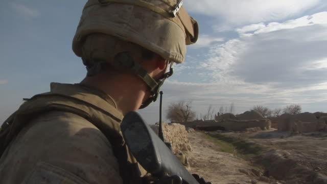 February 2009 CU Soldier with rifle / Bakwa Farah Province Afghanistan