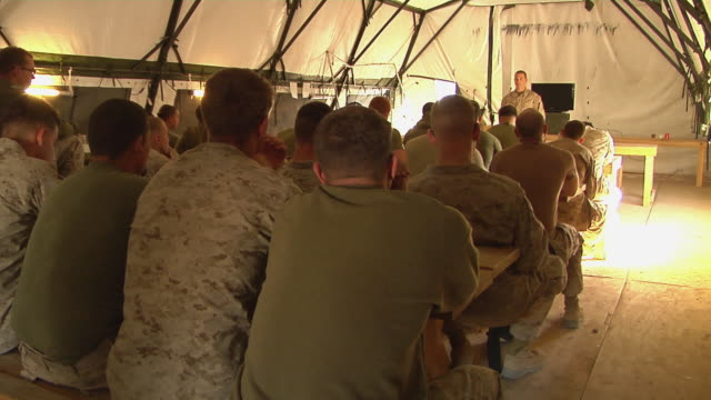 February 2009 WS View of solider giving presentation / Bakwa Farah Province Afghanistan