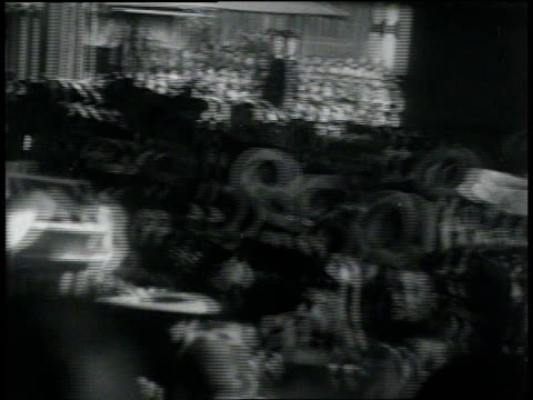 stockvideo's en b-roll-footage met february 23, 1933 montage japanese citizens celebrate new year / meguro, tokyo, japan - 1933