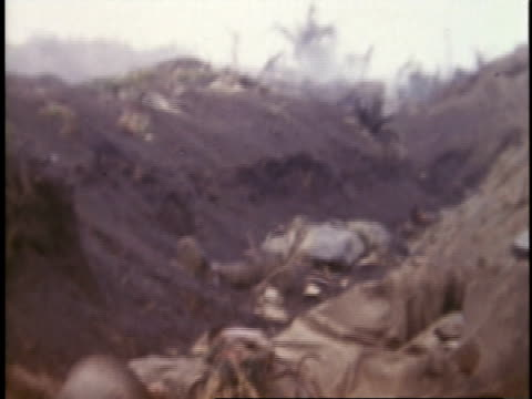 february 26, 1945 dead bodies in a trench / iwo jima, japan - 1945 stock videos & royalty-free footage