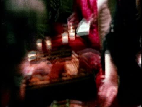 vídeos y material grabado en eventos de stock de february 26, 1974 montage opening celebration of exhibition 'los four: almaraz, de la rocha, lujan, romero' at los angeles county museum of art,... - 1974