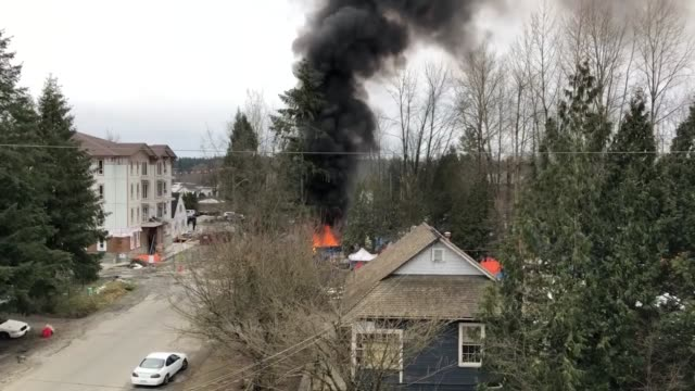 february 26, 2019 was a horrible day for the city of maple ridge in british columbia. at the corner of 222nd and lougheed highway near the downtown... - other stock videos & royalty-free footage