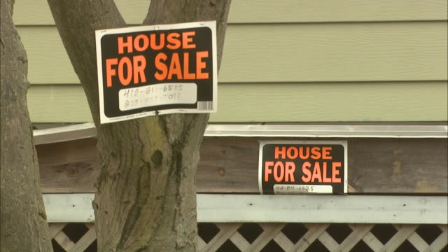 February 29 2008 WS 'HOUSE FOR SALE signs / Baltimore Maryland United States
