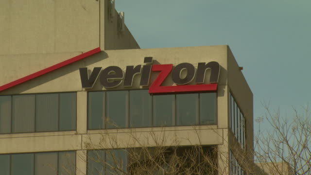 February 29 2008 WS Verizon logo on building facade / Baltimore Maryland United States