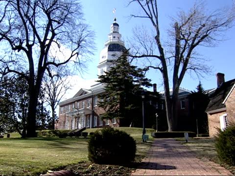 vídeos y material grabado en eventos de stock de february 9, 2006 maryland statehouse / annapolis, maryland, united states - capitolio estatal de maryland