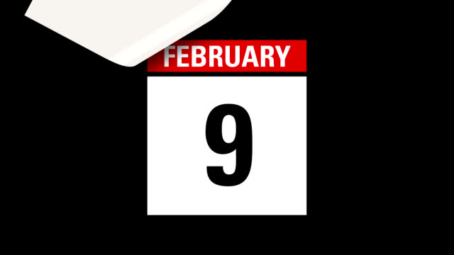 february leap year month calendar hd - calendar stock videos & royalty-free footage