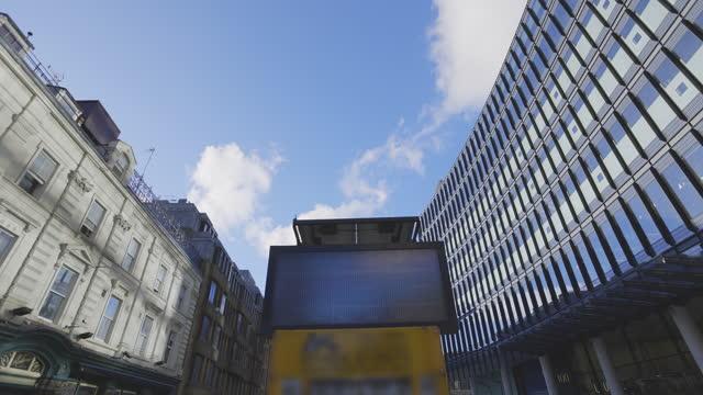 february lockdown city of london - digital display stock videos & royalty-free footage
