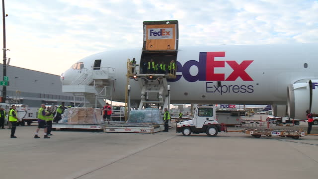 fed ex plane full of relief supplies headed to puerto rico on oct 13 2017 chicago's puerto rican community had been gathering donations for weeks but... - anna maria island stock videos and b-roll footage
