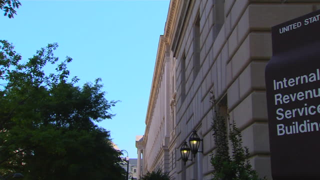 hd federal building irs_pan1 (1080/24p) - social security stock videos & royalty-free footage