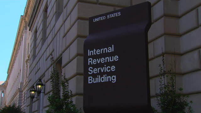 hd federal building irs_zoomout1 (1080/24p) - government building stock videos & royalty-free footage