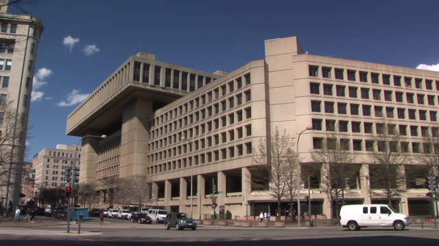 ws, federal bureau of investigation building, washington dc, washington, usa - fbi stock videos & royalty-free footage
