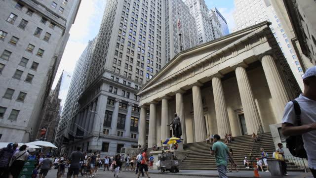 vídeos y material grabado en eventos de stock de federal hall nyc - bolsa de nueva york