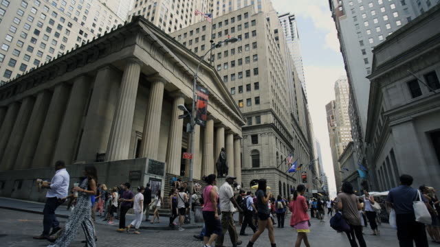 federal hall nyc - new york stock exchange stock videos & royalty-free footage