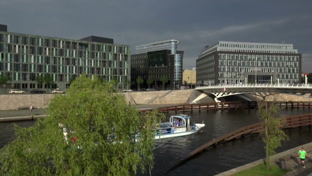 federal ministry of education and research, house of federal press conference, spree river, berlin, germany - river spree stock videos & royalty-free footage