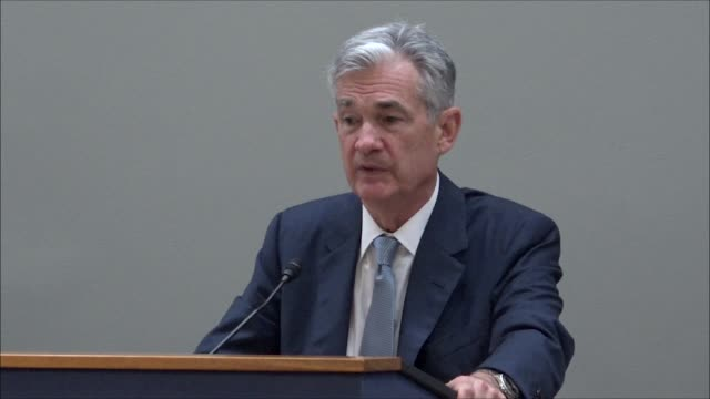 federal reserve board of governors chairman jerome powell tells a rhode island business group that the libor rate started for pricing bank loans... - interest rate stock videos & royalty-free footage