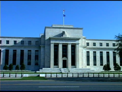 federal reserve building, washington dc - federal reserve building stock videos and b-roll footage