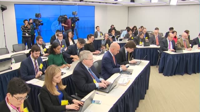 federal reserve chairman jerome powell says at a press conference after a meeting of the federal open markets committee that there were healthy... - 中央銀行点の映像素材/bロール