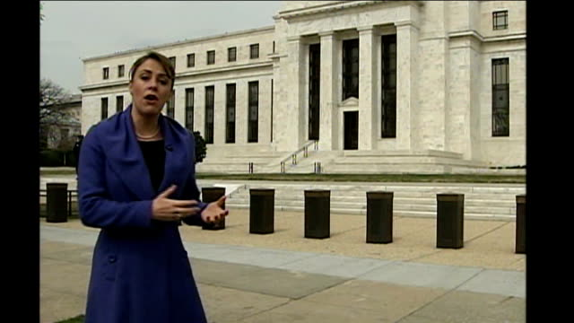 Federal Reserve cuts interest rates by three quarters of a per cent Federal Reserve EXT Reporter to camera